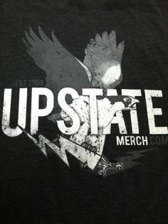 Upstate Merch. A locally owned and operated t-shirt manufacturing company. Glad to have these guys operating in the Village and glad to call them my friends.
