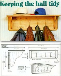 Hat and Coat Rack Plans - Furniture Plans and Projects | WoodArchivist.com