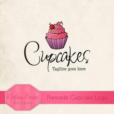 Premade Cupcake Logo by KirstenLouiseDesigns #cupcakelogo