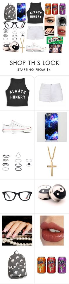 """""""Going To Sammy's Basketball Game"""" by magcon-and-o2l-bish ❤ liked on Polyvore featuring Ally Fashion, Converse, Topshop, Palm Beach Jewelry, Ray-Ban, YIN, Charlotte Tilbury and CO"""