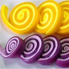 Prepara fácilmente en casa estos simpáticos espirales de gelatina