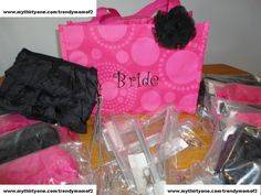 Bridal gift, Brides Maids gift idea.  In a Thirty-One tote.. Love this idea