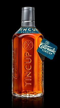 Best Packaging Stranger Tincup Whiskey Bottle images on Designspiration Beverage Packaging, Bottle Packaging, Brand Packaging, Packaging Design, Product Packaging, Label Design, Graphic Design, Alcohol Bottles, Liquor Bottles