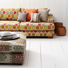 PERSIA Collection, Warwick Fabrics / shown here in colour 'Watermelon' / upholstery #warwickfabrics