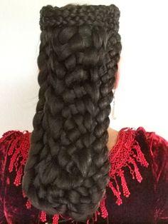 Fancy Dress Headwear – Haarteil Sissi Sisi zum ungarischen Krönungskleid – a unique product by Zopfkronenliesl on DaWanda