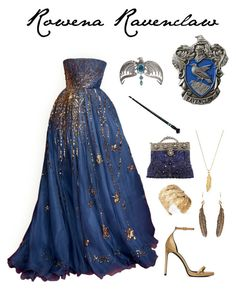 """Rowena Ravenclaw"" by ravenclawchick852 on Polyvore featuring Yves Saint Laurent, Wet Seal, ChloBo and Selection Privee"