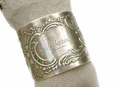 Ancien rond de serviette en argent français par LeGrenierDeFrancine