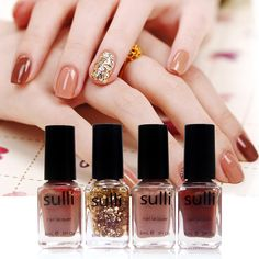 Cheap Nail Polish, Buy Directly from China Suppliers:         4 Bottles Sulli Nail Polish Nude Time Style Innocuity Nail Enamel Beauty for Girls LadyUS $ 12.99/piece6pcs/lot coupon US $2 off for US $12