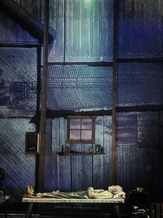 Of Mice and Men. Birmingham Rep. Scenic design by Liz Ascroft.