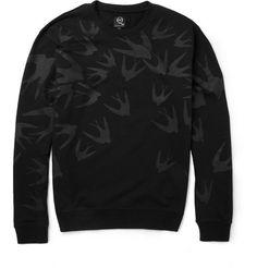 McQ Alexander McQueenBird-Print Loopback Cotton-Blend Sweatshirt|MR PORTER
