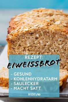 Dieses Brot ist gesund, kohlenhydratarm, saulecker und macht satt Yes, there is bread that is low in carbohydrates, healthy and delicious. And it also makes you full! Healthy Soup Recipes, Healthy Dinner Recipes, Bread Recipes, No Calorie Foods, Low Calorie Recipes, Law Carb, Easy Meals, Tasty, Food And Drink