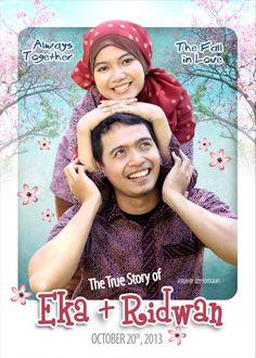 Konsep Poster - Foto Prawedding >>Eka & Ridwan
