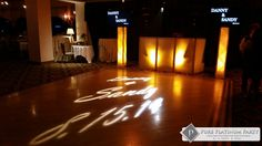 #pureplatinumparty #weddingdj #weddingentertainment #njbride #nybride #gobolights #monogram