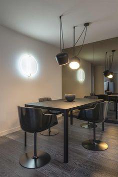Aim Hardwired Pendant by Flos Lighting |   Designer Credit: SK Design Group