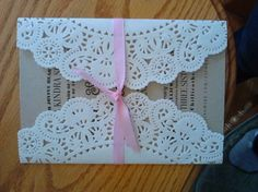 DIY Doily Wedding Invitation | Mrs. Fancee