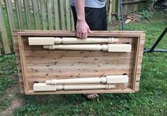 Create your own folding farm table