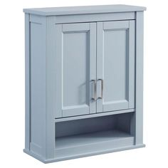 Scott Living Durham 24-in W x 30-in H x 10-in D Cool Gray Bathroom Wall Cabinet