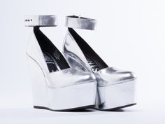 I Desire The Things That Will Destroy Me Bowery in Metallic Silver at Solestruck.com