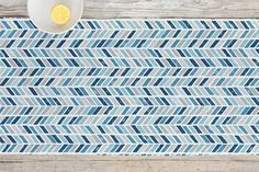 Tiled Chevrons Table runner by Hooray Creative   Minted