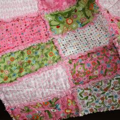 Meadow Friends Baby Rag Quilt / Childs Rag by AngelasExpressions, $79.00