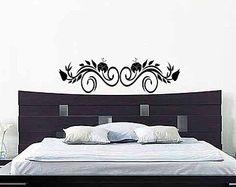 Bedroom Wall Decal Headboard Wall Sticker Rose by MyVinylDecor