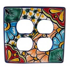 Talavera Double Outlet Mexican Switch Plate