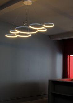 Le Deun - Ultra8 - Suspension L 180 cm | #lighting #pendant #circles