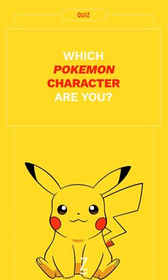 Which 'Pokemon' Character Are You?