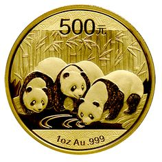 Just for comparison... Here is the 2013 China Panda Gold Coins - 1 oz. - The 2013 design features three Pandas drinking from a watering hole surrounded by a field of bamboo. The combination of intricate detailing and the annual design changes make the China Panda Gold Coins unique.