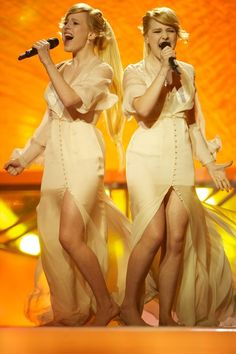 Tolmachevy Sisters, 2014, at Eurovision song contest in Copenhagen.