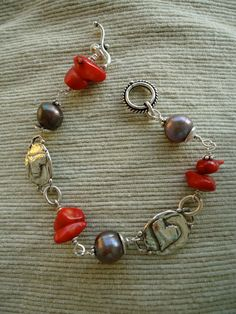 Sterling Coral Bracelet by smisko on Etsy, $48.00