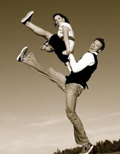 Anytime we get to fly in the air via plane, zipline or dance partner, it's a good day. Swing dance.