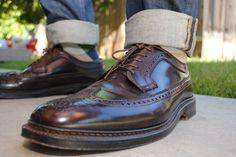 Alden Cordovan, Cordovan Shoes, Men's Shoes, Shoe Boots, Dress Shoes, Mens Boots Fashion, Mens Clothing Styles, Designer Shoes, Leather Shoes