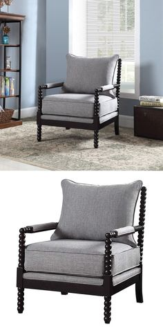 This remarkable accent collection is sure to have the stylish seating you've been searching for. The Accent Seating Accent Chair with Beaded Frame by Coaster at Great American Home Store in the Memphis, TN, Southaven, MS area. #shopgahs #accentchair #chair #booknook #nook #readingchair