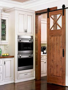 Nice idea - bring an old barn door inside!
