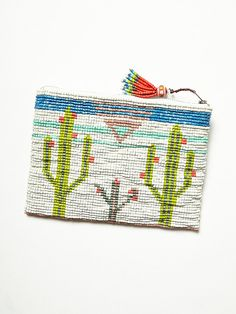 Free People Cactus Rose Clutch, $198.00. Epic beadery and such a cutesy scene. Just needs a long strap to make it a cross body