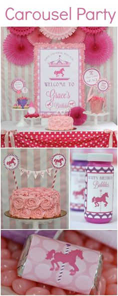 Unique kids birthday theme - Carousel Party
