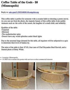 Angrivated: Greatest Coffee Table Ad ever!