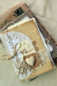Cloth and Paper Mini Album