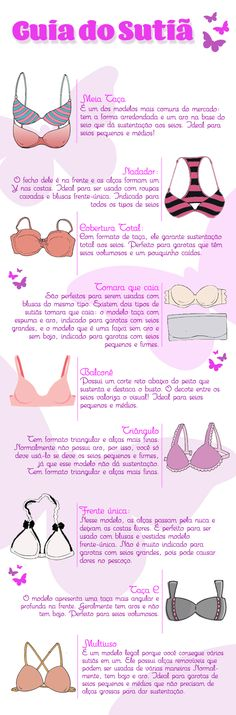 O sutiã ideal para cada tipo de seios confiram aqui para comprar o Sutiã correto... Fashion Vocabulary, Fashion Looks, Fashion Tips, Fashion Design, Little Bit, Tips Belleza, How To Make Hair, Personal Stylist, Body Shapes