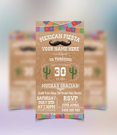 Mexican Fiesta Invitations by ConceptPartyPrints on Etsy https://www.etsy.com/listing/259616914/mexican-fiesta-invitations