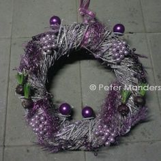 advent wand-krans / advent wall-wreath