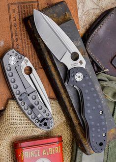 Spyderco Schempp Tuff G-10 Plain Edge EDC Folding Knife, Black