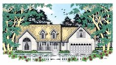 Country House Plan with 1688 Square Feet and 3 Bedrooms from Dream Home Source | House Plan Code DHSW54236...instead of having bonus room, stairs can go into basement