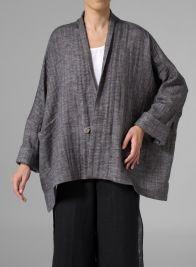 MISSY Clothing - Flattering V-neckline Linen Raglan Jacket