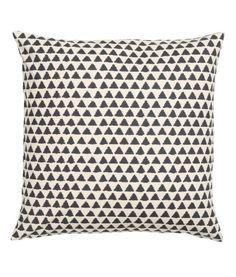 Kuviollinen tyynynpäällinen | Luonnonvalkoinen/Antrasiitti | Koti | H&M FI