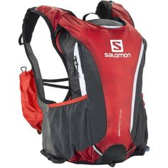 Salomon Advanced Skin Pro 14 + 3 Set Hydration Pack (Bright Red/Asphalt/White), Form fitting running pack with versatile carrying capacity and stretch comfort for all-day endurance running. Fit Board Workouts, Fun Workouts, Hiking Backpack, Backpack Bags, Long Distance Running, Men's Backpacks, Hydration Pack, Running Inspiration, Ski And Snowboard