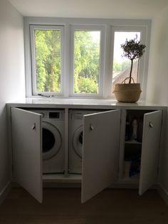 Small Laundry Rooms, Laundry Room Design, Laundry In Bathroom, Bathroom Interior, Interior Design Living Room, Living Room Designs, Attic Rooms, Small Room Bedroom, Loft Room