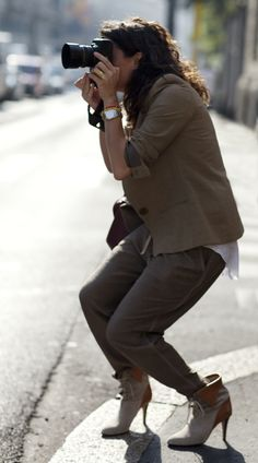 i love how Scott from the Sartorialist always gushes about his lady- seen here. she always dresses so great