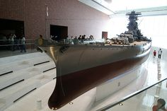 "IJN Battleship Yamato - 日本海軍戦艦-大和ミュージアム大モデル! World's biggest scale model 1/10 IJN Battleship ""Yamato"" in Yamato's museum, Japan. #9B"